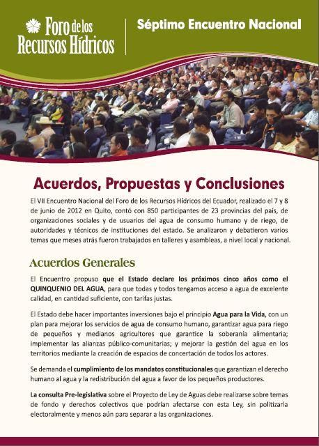 VII Encuentro – Acuerdos, Propuestas y Conclusiones