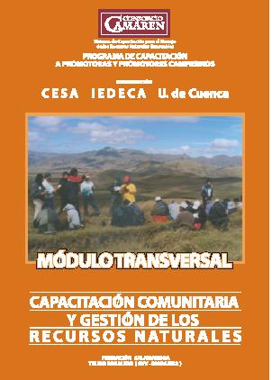 Capacitación comunitaria y gestión de los Recursos Naturales