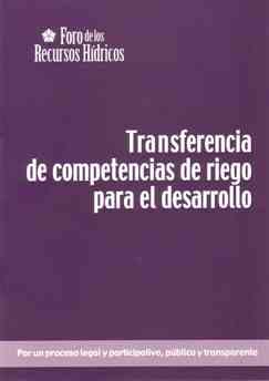 Transferencia de competencias de riego para el desarrollo